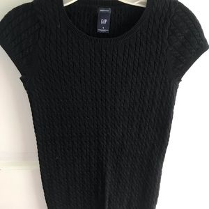 Cable Cap Sleeve Sweater, Small